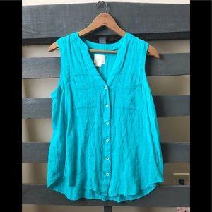 Maeve size 6 sleeveless bright blouse blouse